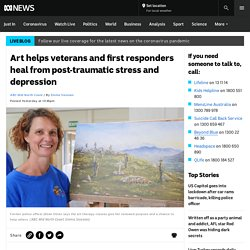 Art helps veterans and first responders heal from post-traumatic stress and depression
