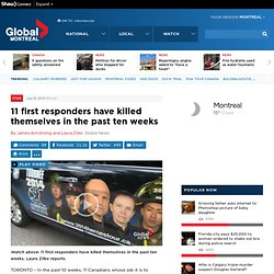11 first responders have killed themselves in the past ten weeks - Toronto