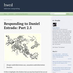 Responding to Daniel Estrada: Part 2.5 - hwcd