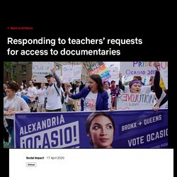 About Netflix - Responding to teachers' requests for access to documentaries