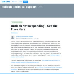 Outlook Not Responding – Get The Fixes Here
