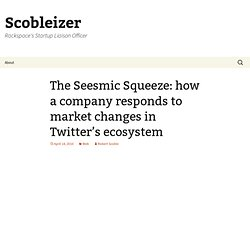 The Seesmic Squeeze: how a company responds to market changes in