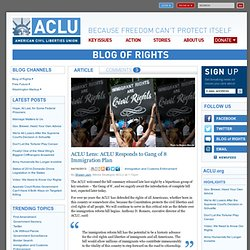 Lens: ACLU Responds to Gang of 8 Immigration Plan