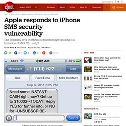Apple responds to iPhone SMS security vulnerability