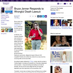 Bruce Jenner Responds to Wrongful Death Lawsuit