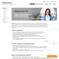 Respondus 4.0: Exam Authoring Tool
