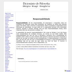 Responsabilidade - Dicionário de Filosofia