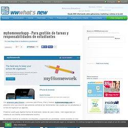 myhomeworkapp – Para gestión de tareas y responsabilidades de estudiantes