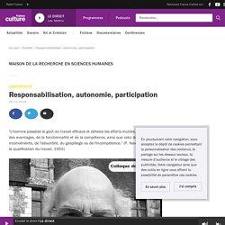 Responsabilisation, autonomie, participation