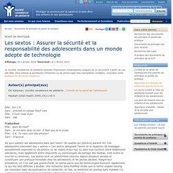 Plutino a ajouté : Les sextos : Assurer la sécurité et la responsabilité des adolescents dans un monde adepte de techno