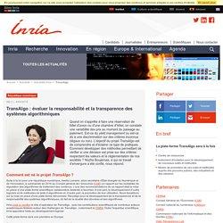 TransAlgo : évaluer la responsabilité et la transparence des systèmes algorithmiques