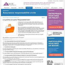 Assurance responsabilité civile - Assurances Gesco