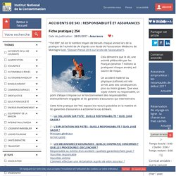 Accidents de ski : responsabilité et assurances
