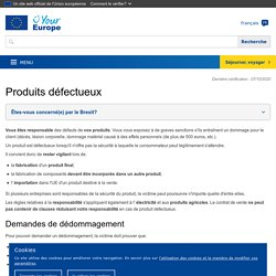 Responsabilité des produits défectueux - Your Europe