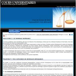 Licence de droit, cours de responsabilité civile délictuelle