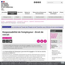Responsabilité de l'employeur - Droit de retrait