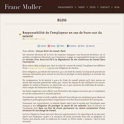Responsabilité de l'employeur en cas de burn-out du salarié - Avocat Paris