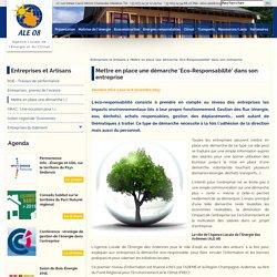 Mettre en place une démarche 'Eco-Responsabilité' dans son entreprise - Agence Locale de l'Energie et du Climat (ALE 08 - Ardennes)
