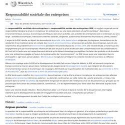 Responsabilité sociétale des entreprises