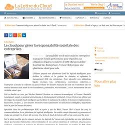 Le cloud pour gérer la responsabilité sociétale des entreprises