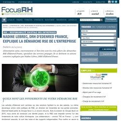 Nadine Lebrec, DRH d'Edenred France, explique la démarche RSE de l'entreprise - RSE - Responsabilité Sociétale des Entreprises - Focus RH