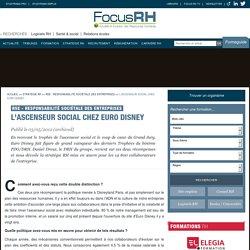 L'ascenseur social chez Euro Disney - RSE - Responsabilité Sociétale des Entreprises - Focus RH