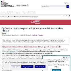 Qu'est-ce que la responsabilité sociétale des entreprises (RSE)