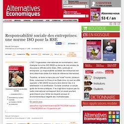 Responsabilité sociale des entreprises: une norme ISO pour la RSE