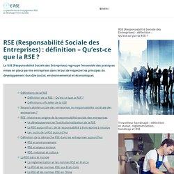 RSE (Responsabilité Sociale des Entreprises) : définition et explications