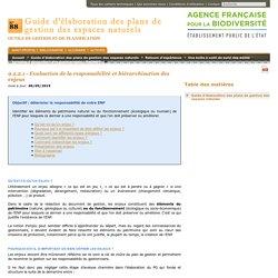 9.2.2.1 - Evaluation de la responsabilité et hiérarchisation des enjeux