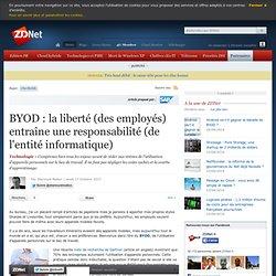 BYOD : la liberté (des employés) entraîne une responsabilité (de l'entité informatique)