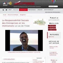 La Responsabilité Sociale des Entreprises et les institutions