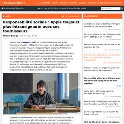 Responsabilité sociale : Apple toujours plus intransigeante avec ses fournisseurs
