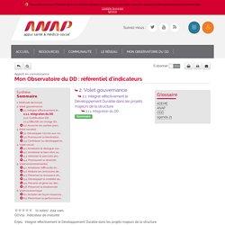 Responsabilité Sociétale - Mon Observatoire du DD : référentiel d'indicateurs - 2.1.1. Intégration du DD