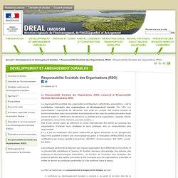 Responsabilité Sociétale des Organisations (RSO) - DREAL Limousin