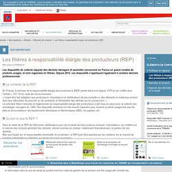 Éléments de contexte - Les filières à responsabilité élargie des producteurs ...