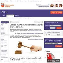 Responsabilité civile professionnelle : les sanctions en RC Pro