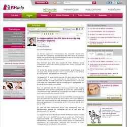 La responsabilité des RH dans le succès des stratégies digitales