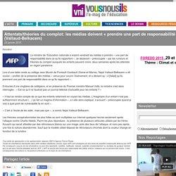 Attentats/théories du complot: les médias doivent «prendre une part de responsabilité» (Vallaud-Belkacem)