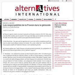 Les responsabilités de la France dans la génocide - [Alternative
