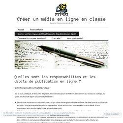 Quelles sont les responsabilités et les droits de publication en ligne?