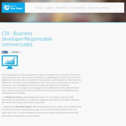 CDI - Business developer/Responsable commercial(e).