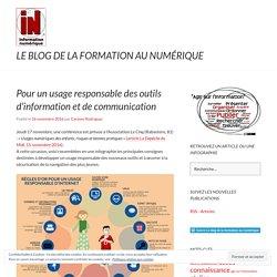 Pour un usage responsable des outils d'information et de communication