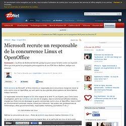 Microsoft recrute un responsable de la concurrence Linux et Open