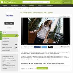 Responsable du Contrôle de gestion chez Lagardère