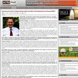 Interview de Franck Le Vallois, Responsable Formation & Développement du Groupe BOBST