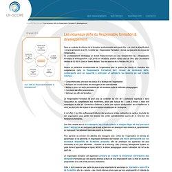 Les nouveaux défis du Responsable formation & développement