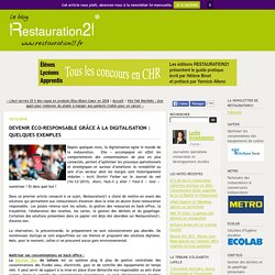 Devenir éco-responsable grâce à la digitalisation : Quelques exemples