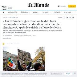 « On te donne 185 euros et on te dit : tu es responsable de tout » : des directeurs d'école témoignent, après le suicide de l'une des leurs