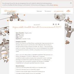 Responsable Qualité Sécurité Environnement (H/F) - Fiche Hermès - Hermès employeur